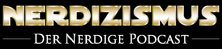 Logo vom Podcast Nerdizismus, ähnlich zu Star Wars Logo